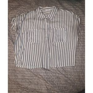 🔥2 for 20$ • Ardene Striped Buttoned Blouse